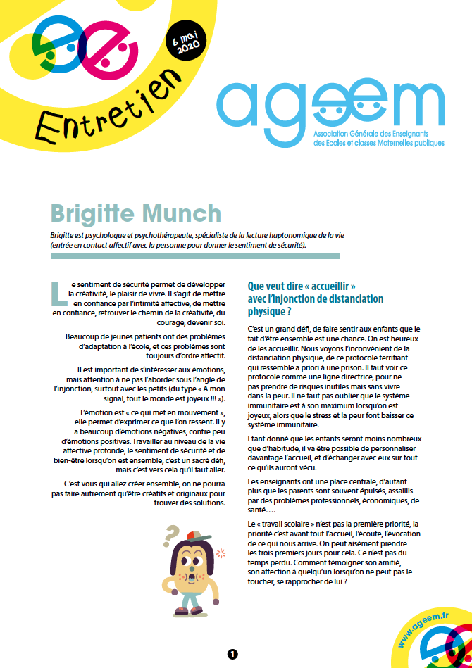 Entretien avec Brigitte Munch